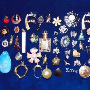 Vintage Assorted lot of Pendants & Charms- 50 item